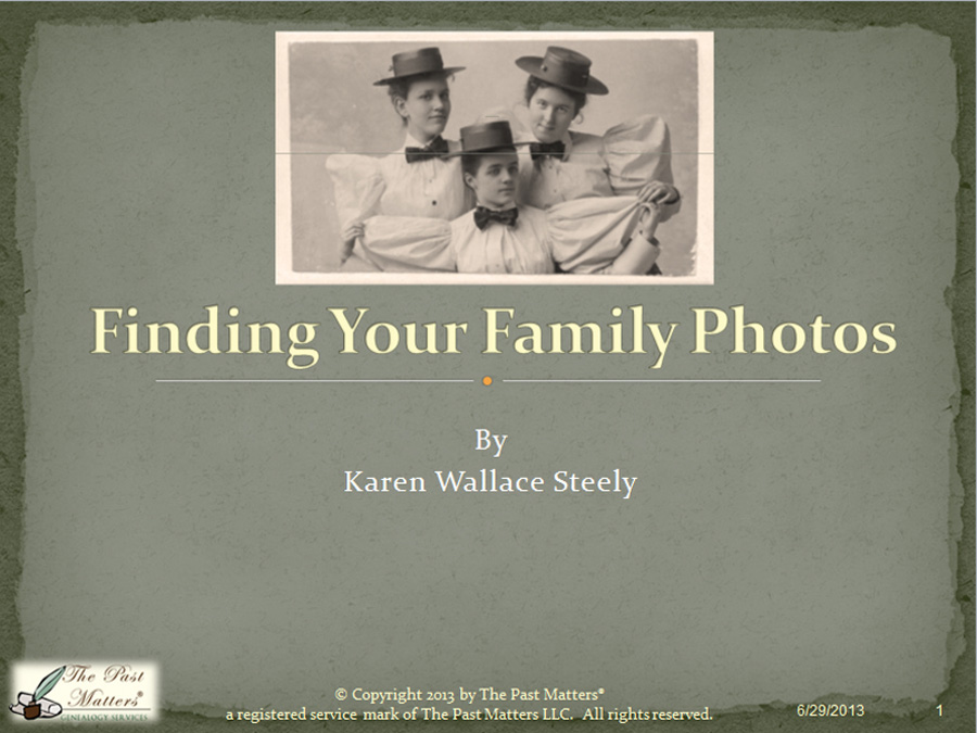 Finding Your Family Photographs