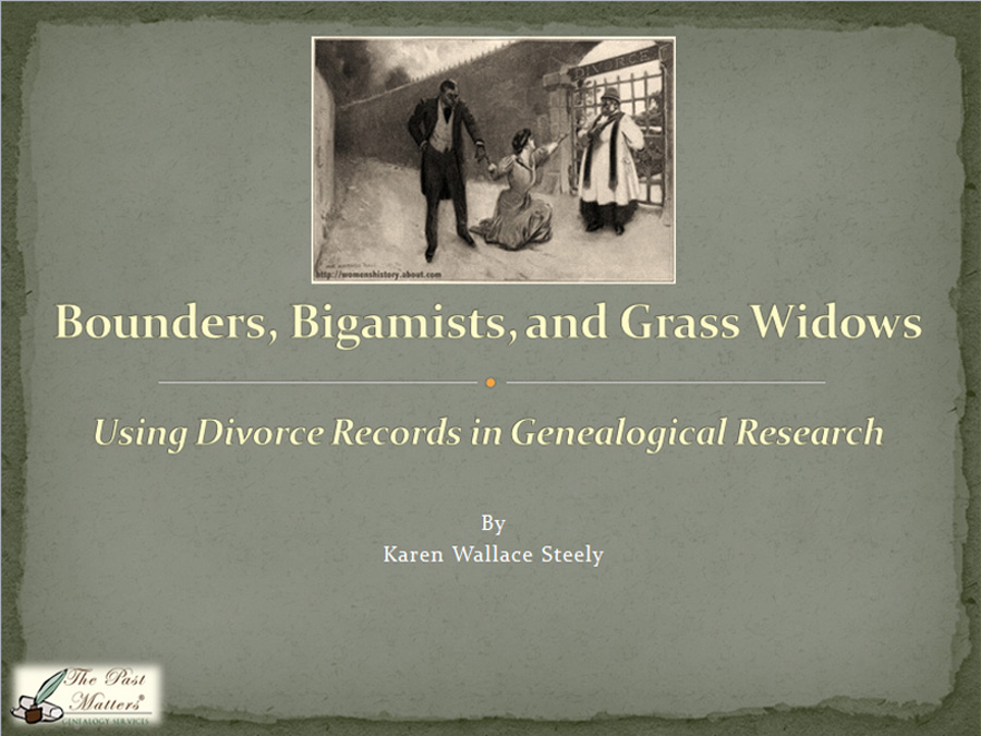 Using Divorce Records in Genealogical Research