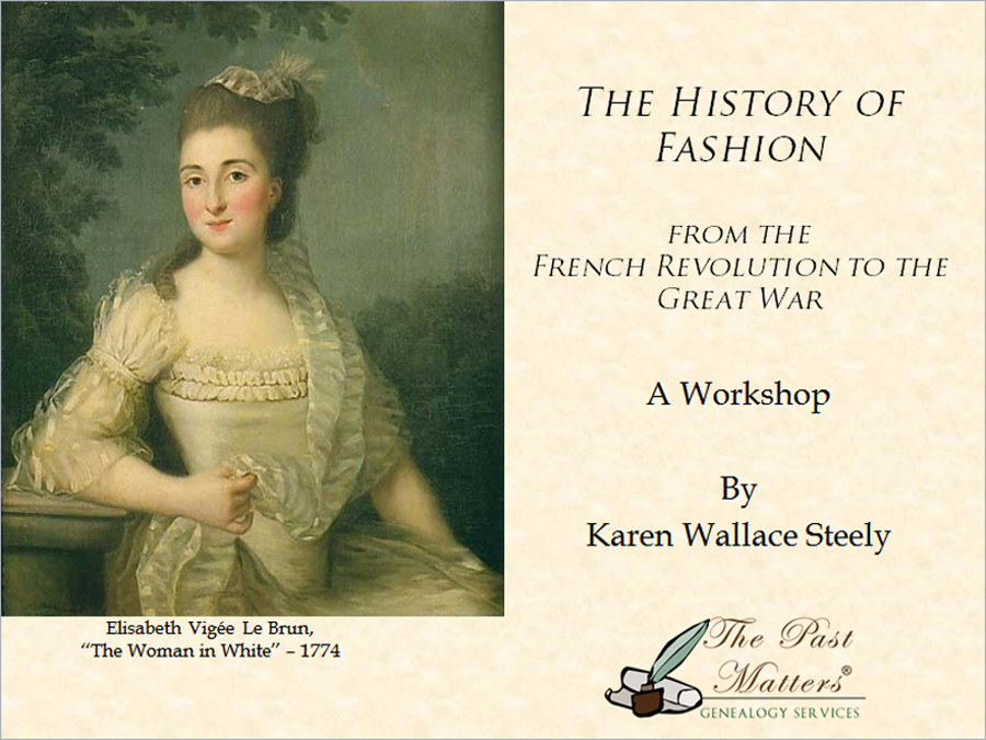 The History of Fashion - A Workshop