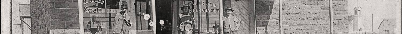 William Henry Charlton General Store in Kenoma, Barton County, Missouri circa 1911