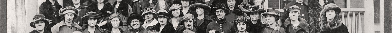 The Young Ladies Sodality of St. Peter's Church in Joplin, Jasper County, Missouri, taken 23 January 1921.