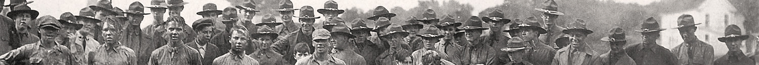 Cornelius Foley and his teammates in 1922, location not known.
