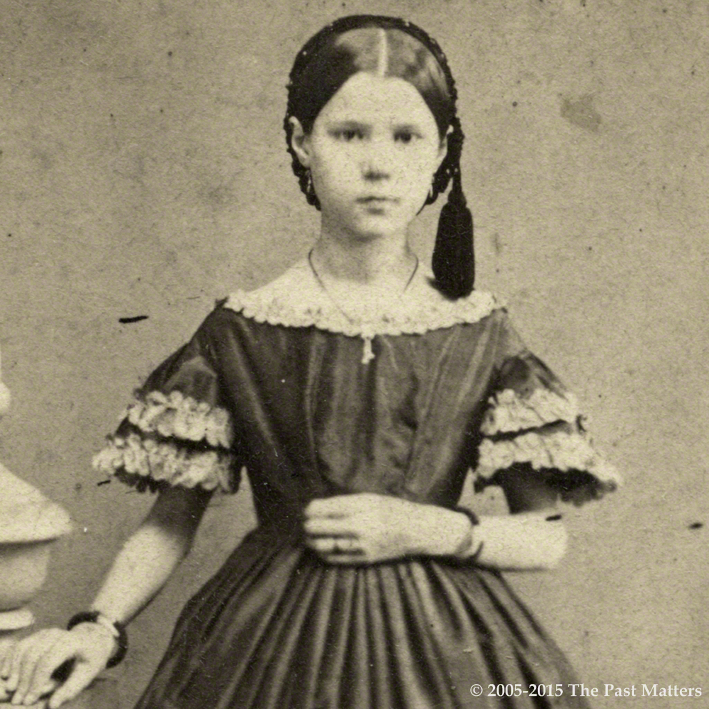 Hattie A. Thompson about 1862.
