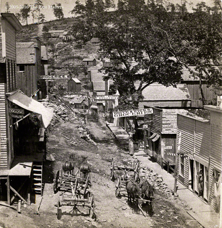 A view of Main Street in Eureka Springs, Arkansas, no. 14, taken by F. F. Fyler circa 1875.