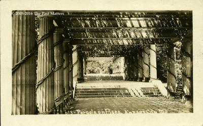 An RPPC of the Pergola on The Paseo in Kansas City, Missouri about 1910