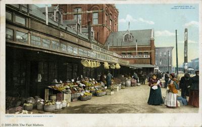 The Kansas City, Missouri City Market about 1917