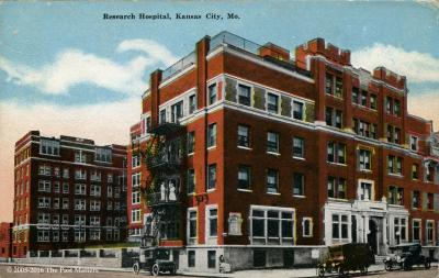 Research Hospital in Kansas City, Missouri about 1930