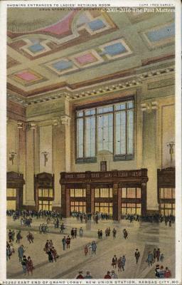 Ladies Retiring Room, Union Station, Kansas City, Missouri about 1930