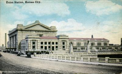 Union Station in Kansas City, Missouri about 1930