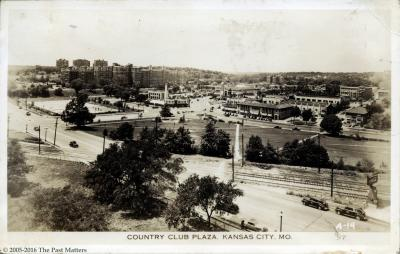 The Country Club Plaza in Kansas City, Missouri about 1935