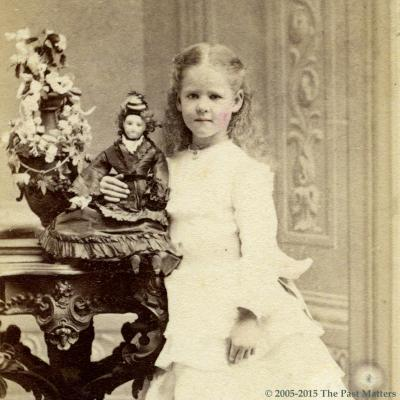 Mary Louise McLean in 1872, taken in Cincinnati, Ohio by Vincent
