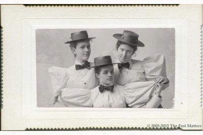 Bessie Bailey, Elsie Gould, and Louise Hoge in May 1895