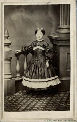 "Frances L. ""Fannie"" (Thompson) Mayhew about 1862"