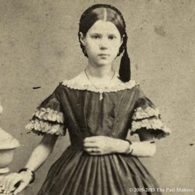 Hattie A. Thompson about 1862