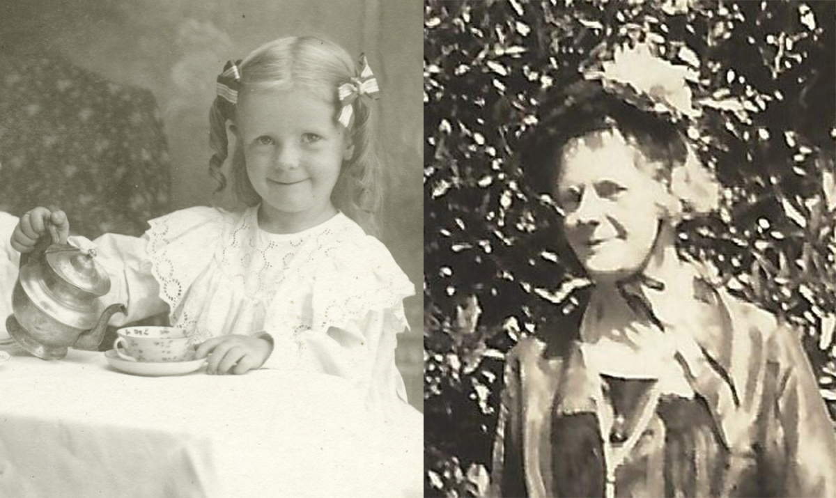 Dana Margaret Williams circa 1901 and 1950